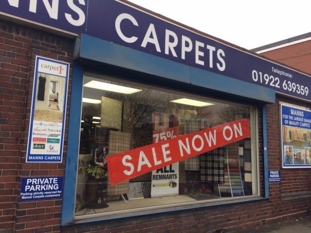 Manns Carpet Shop Walsall